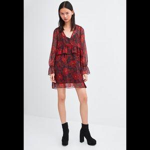 🖤SALE🖤 Zara - red/black/gold mini dress